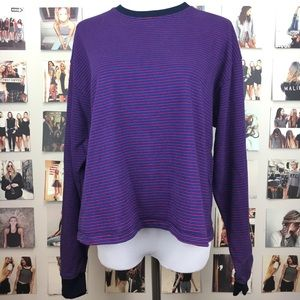 Brandy melville thick purple striped acacia top